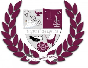 The shield of Kappa Theta Epsilon, a professional interest LGBT sorority
