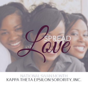 Kappa Theta Epsilon Spreads Love by celebrating National Swan Month