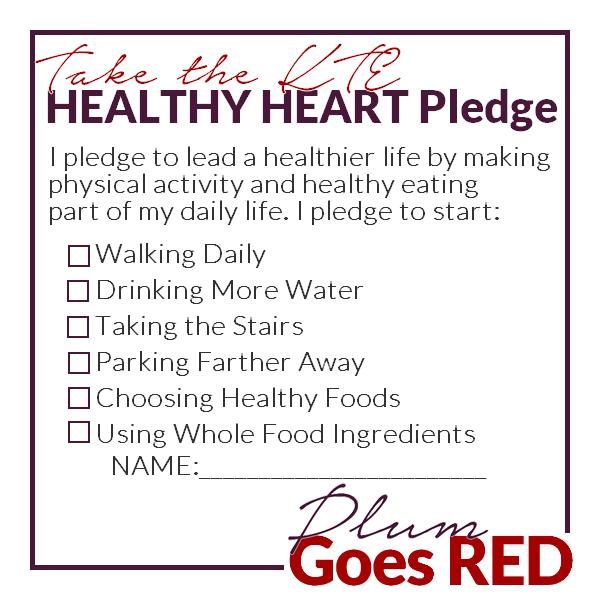Kappa Theta Epsilon Sorority Healthy Heart Pledge Card