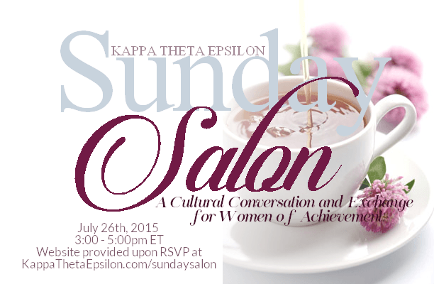 Kappa Theta Epsilon Sorority Inc Sunday Salon Announcement