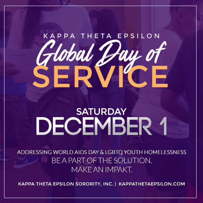 Kappa Theta Epsilon Sorority Day of Service